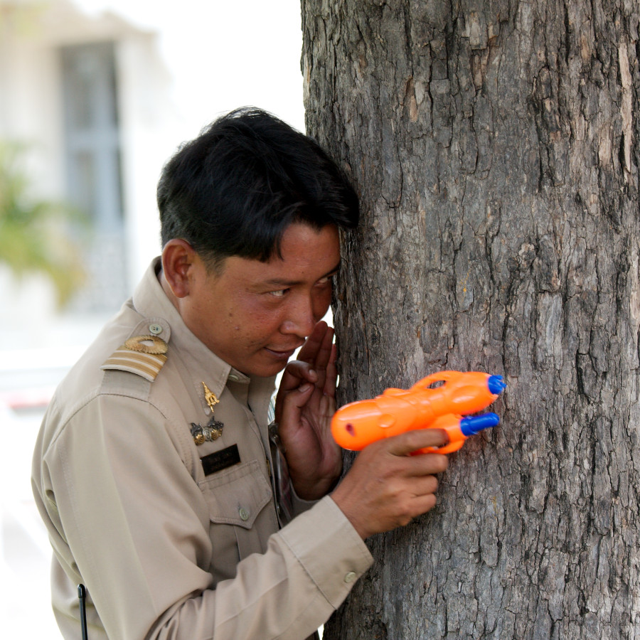 Police in Action (Songkran)